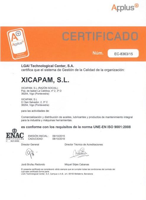 Garantías y certificaciones